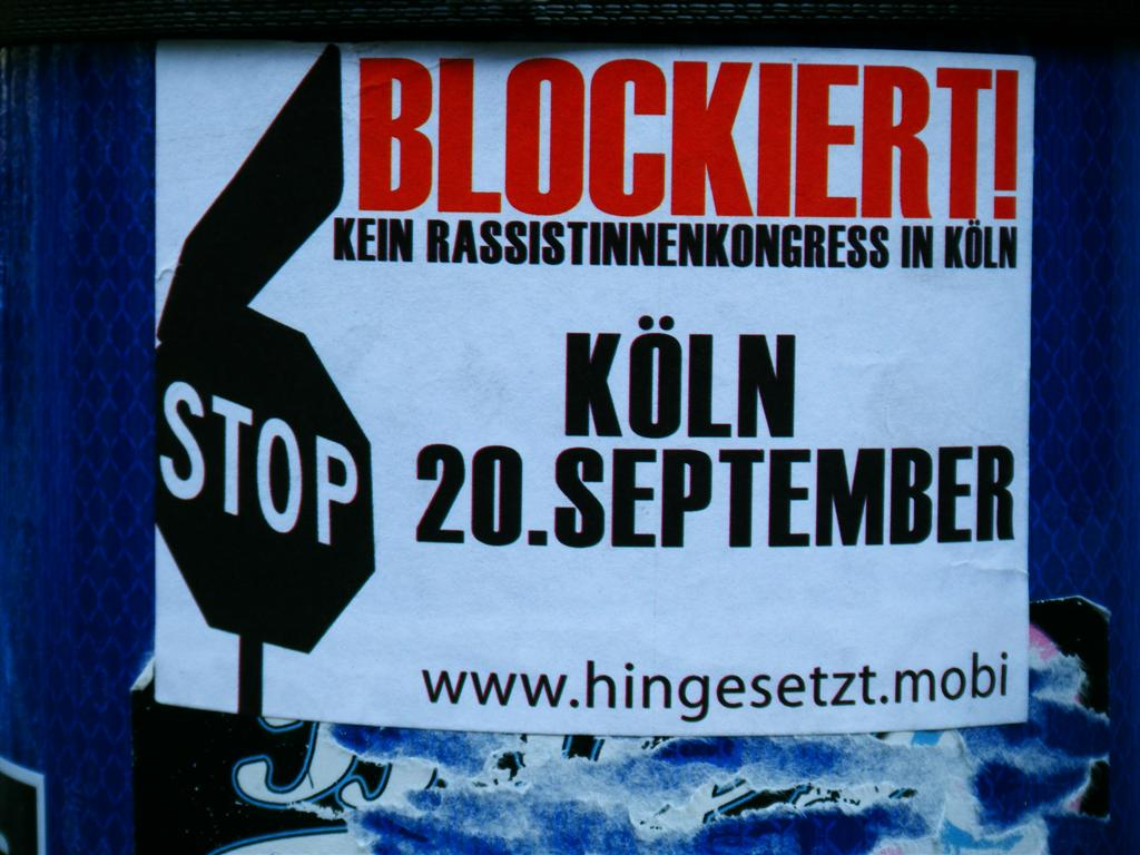 21. September 2008: Protest gegen den Anti-Islamisierungskongress in Köln