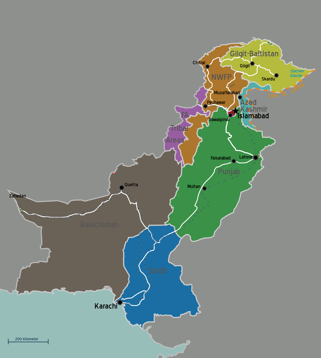 Regionen in Pakistan