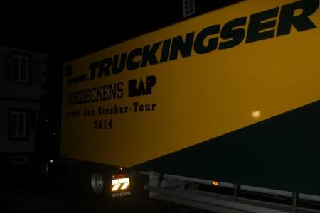 Der Truck rollt zum Abbau an.