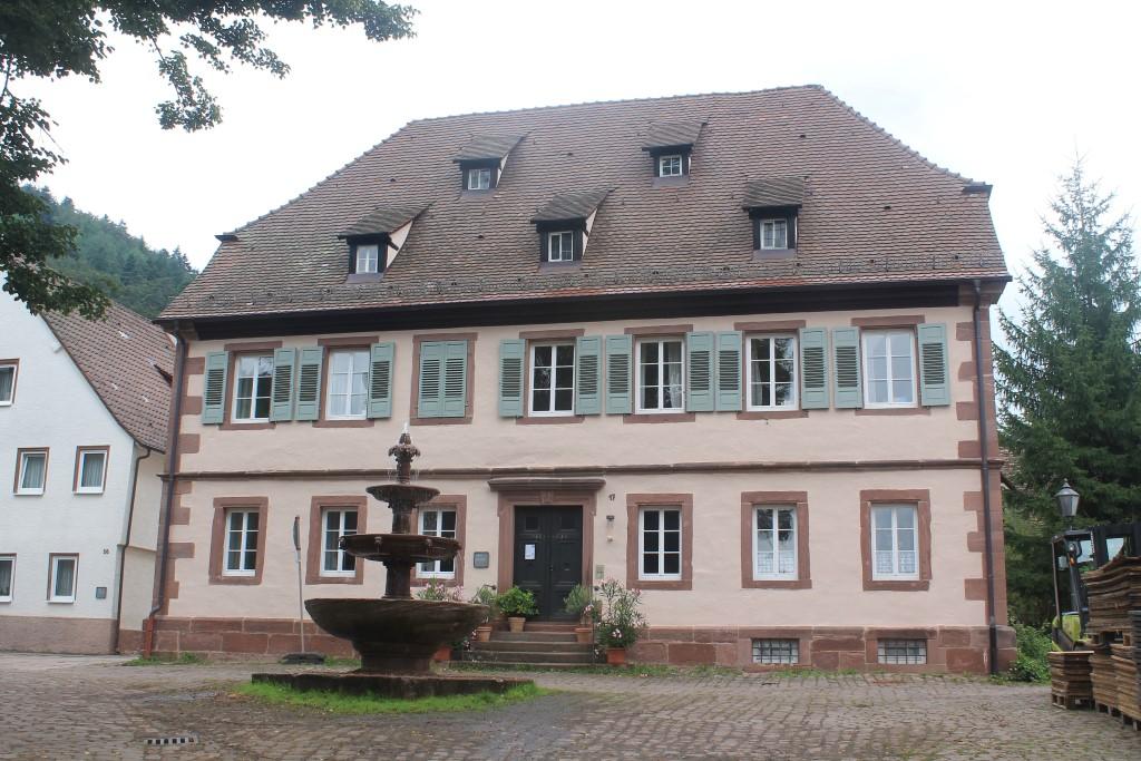 Das evangelische Pfarrhaus Hirsau.