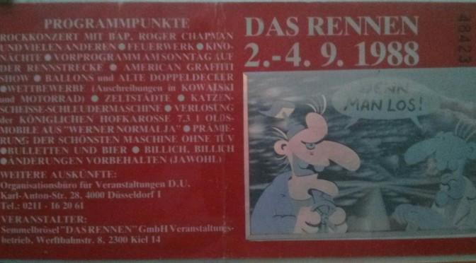"""Eintrittskarte für """"Werner - Das Rennen"""" (1988)"""