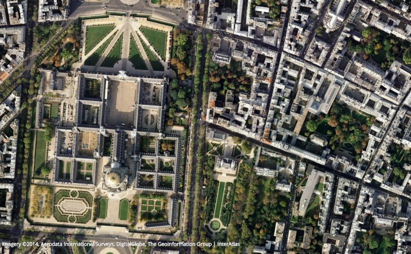 Earth View from Google Maps: Paris, Invalidendom