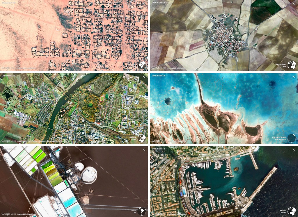 Earth View from Google Maps: Beispiele