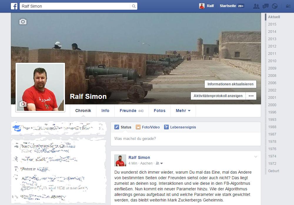 Facebook-Profil Ralf Simon