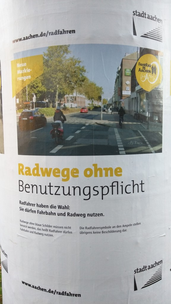 Radwege ohne Benutzungspflicht