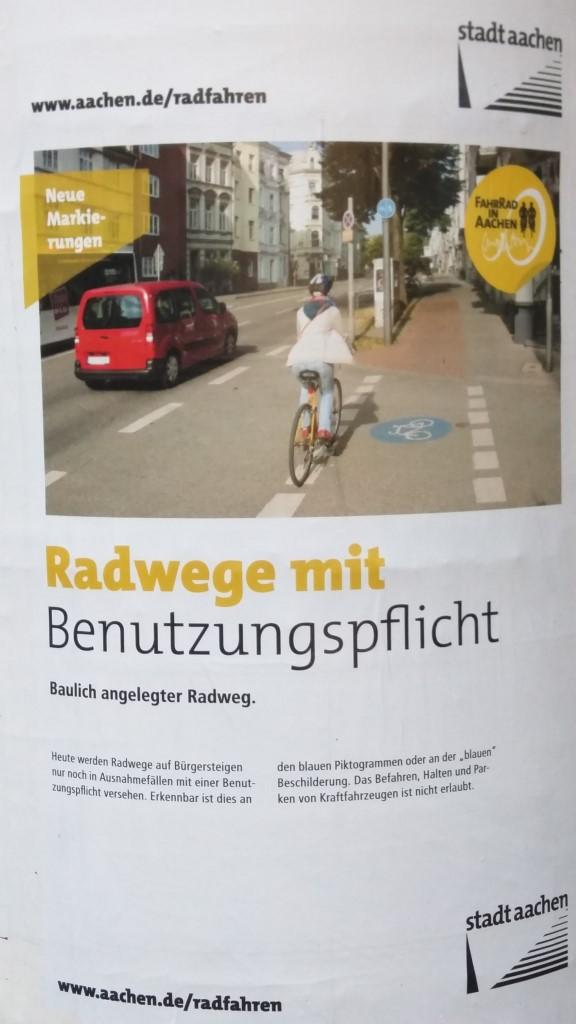 Radwege mit Benutzungspflicht