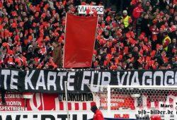 """""""Rote Karte für Viagogo"""" (mit freundlicher Genehmigung von Ute Lochner / vfb-bilder.de)"""