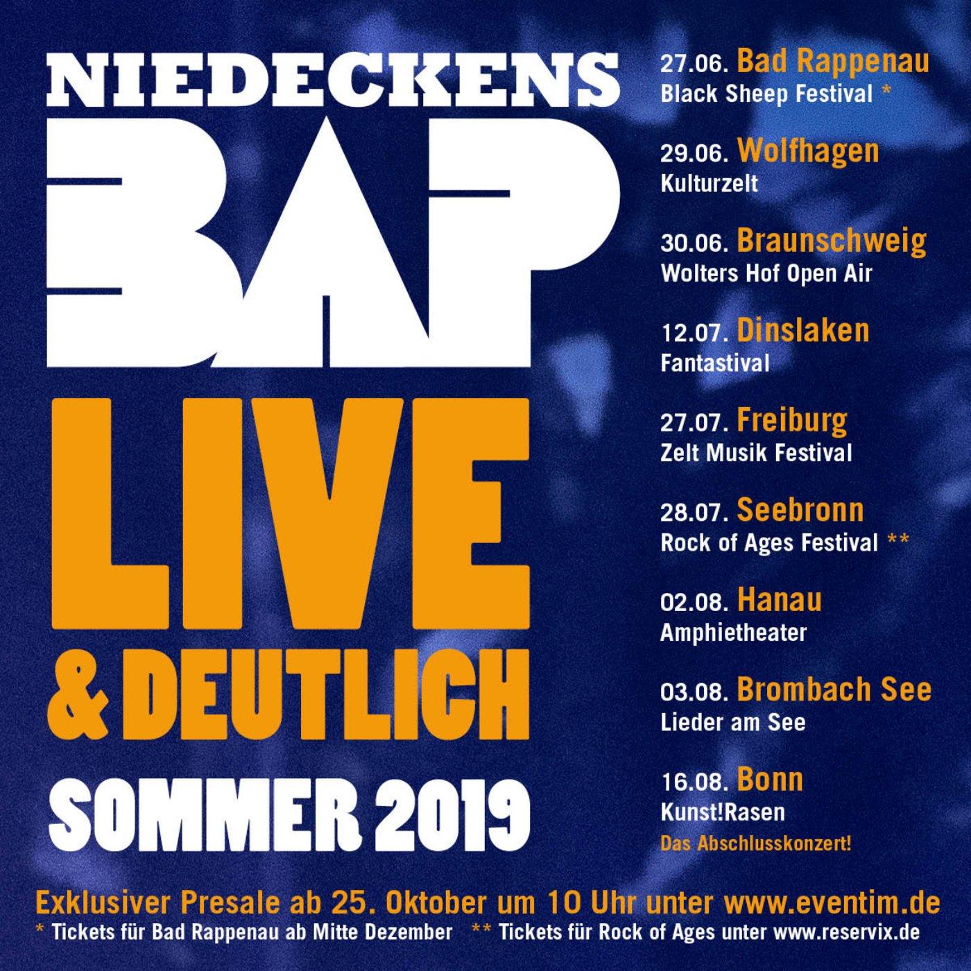 NiedeckensBAP live im Sommer 2019