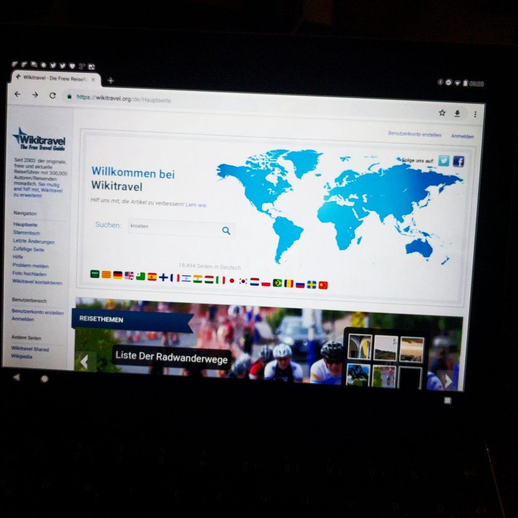 Frühstückslektüre heute: www.wikitravel.org/de mit Kroatien und Slowenien.