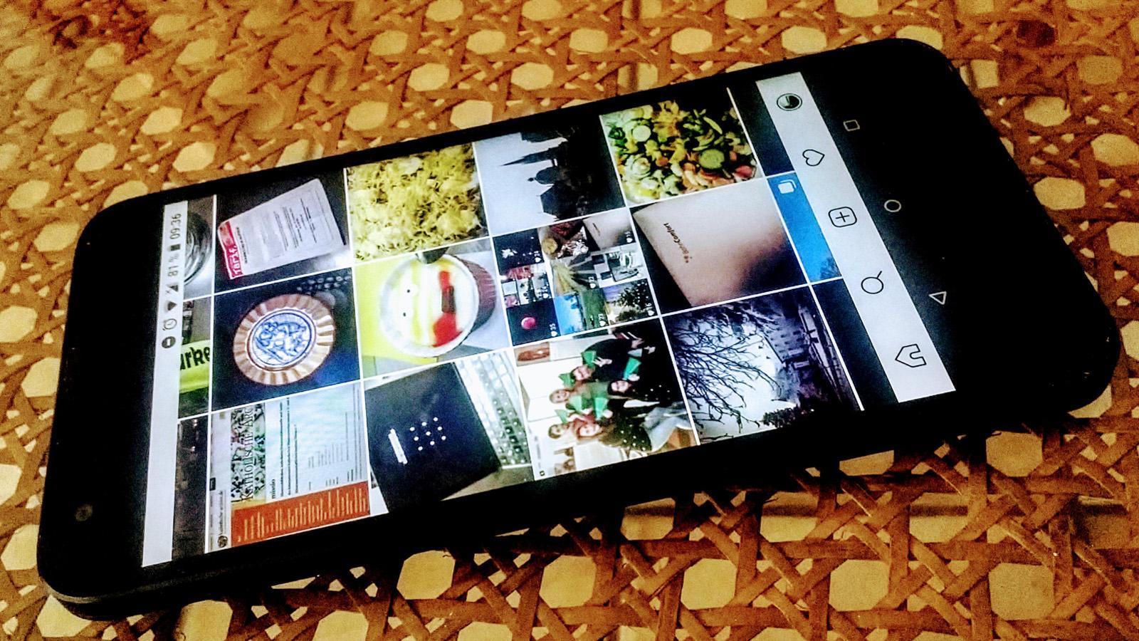 Smartphone Nexus 5X mit Instagram | Foto: Ralf Simon