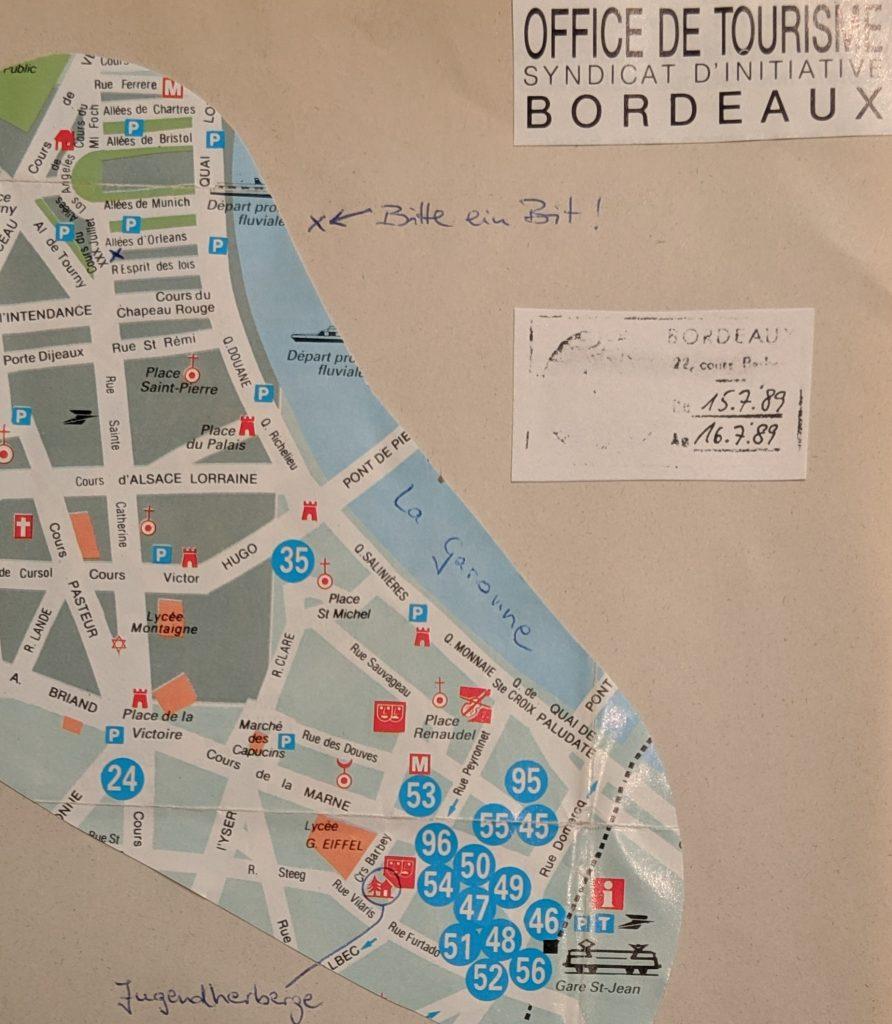 InterRail 1989: Bordeaux