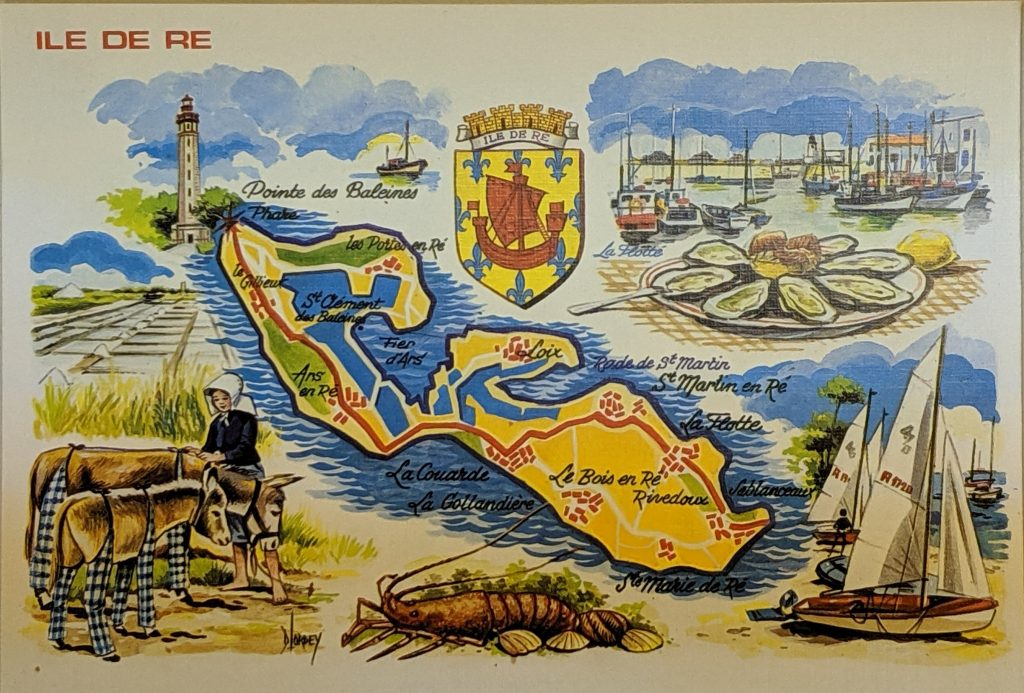 InterRail 1989: Postkarte von der Ile de Ré
