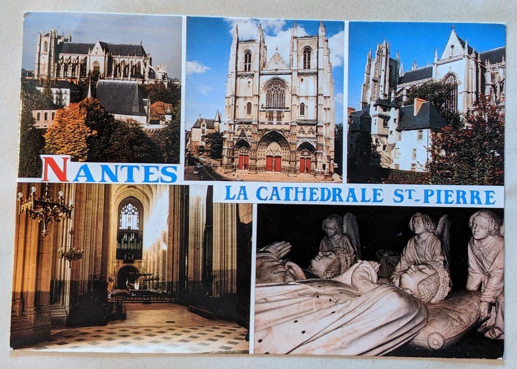 InterRail 1989: Postkarte der Kathedrale von Nantes