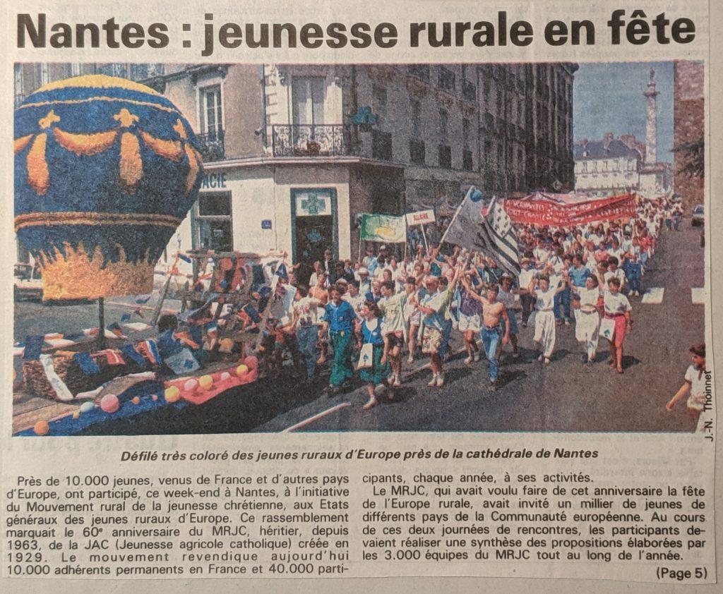 InterRail 1989: Die Zeitung Presse-Ocean mit einem großen Sonderteil zum MRJC-Fest.