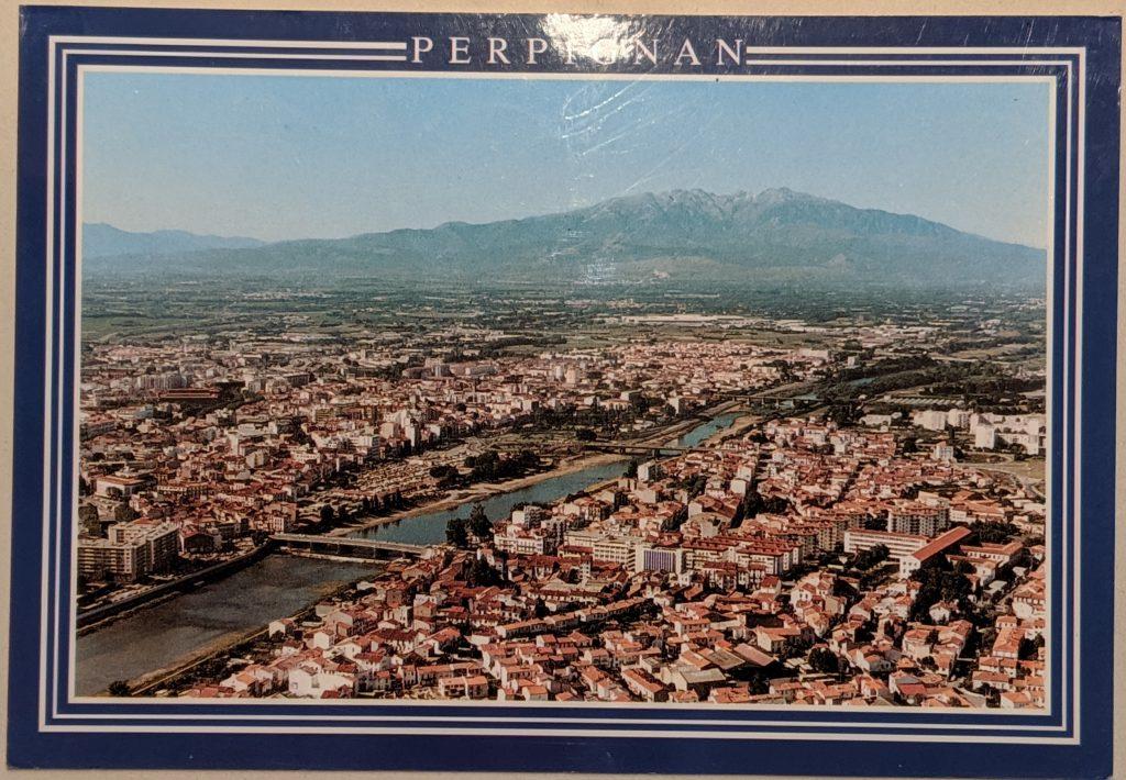 InterRail 1989: Postkarte aus Perpignan