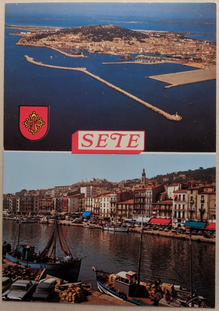 InterRail 1989: Postkarte aus Sete
