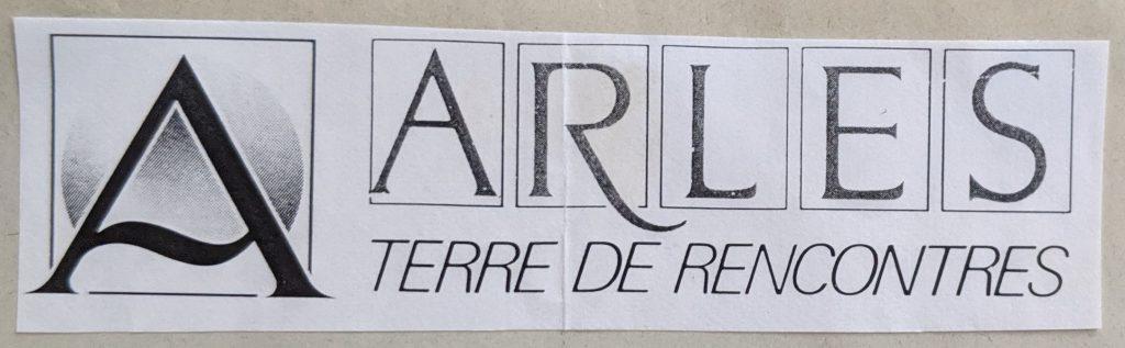 InterRail 1989: Arles (Stadtlogo)