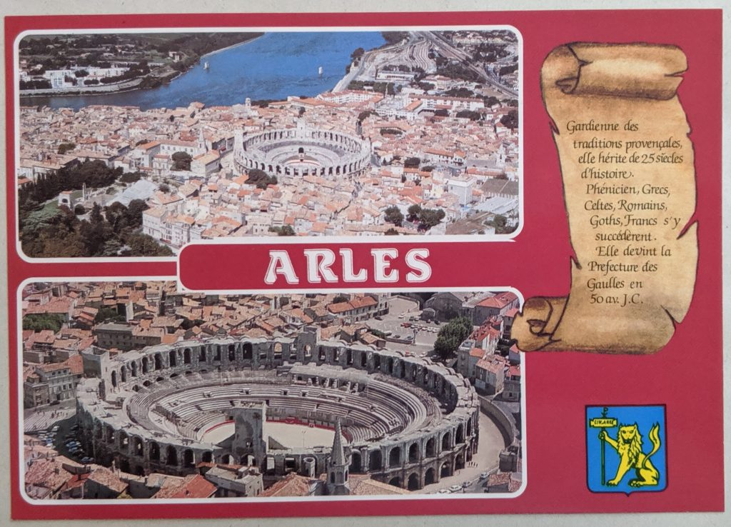 InterRail 1989: Arles (Postkarte 1) - Amphitheater
