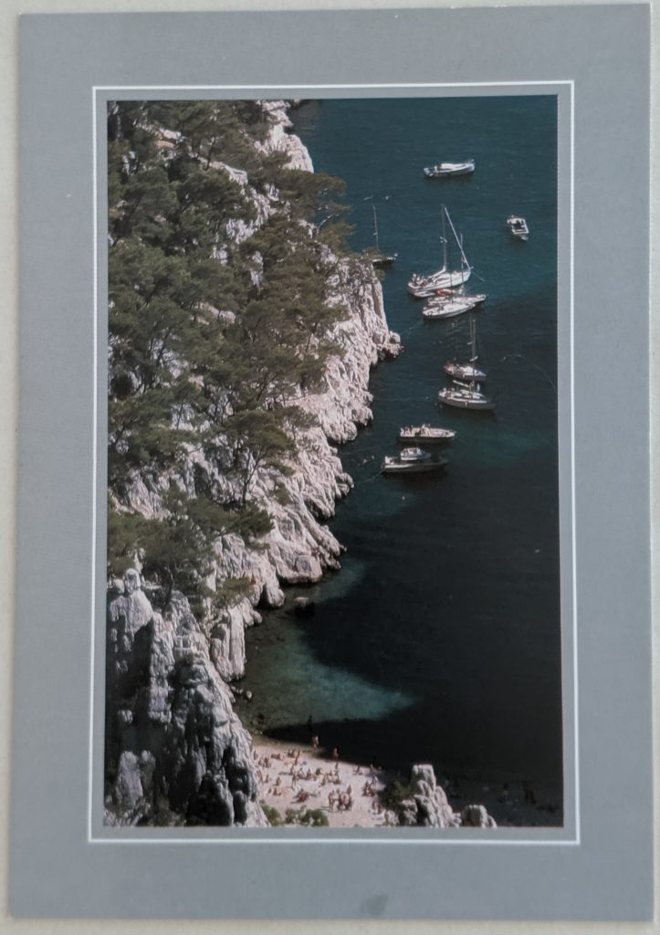 InterRail 1989: Postkarte aus Cassis (2)