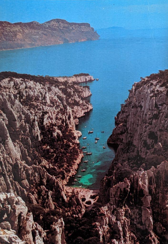 InterRail 1989: Postkarte aus Cassis (3)