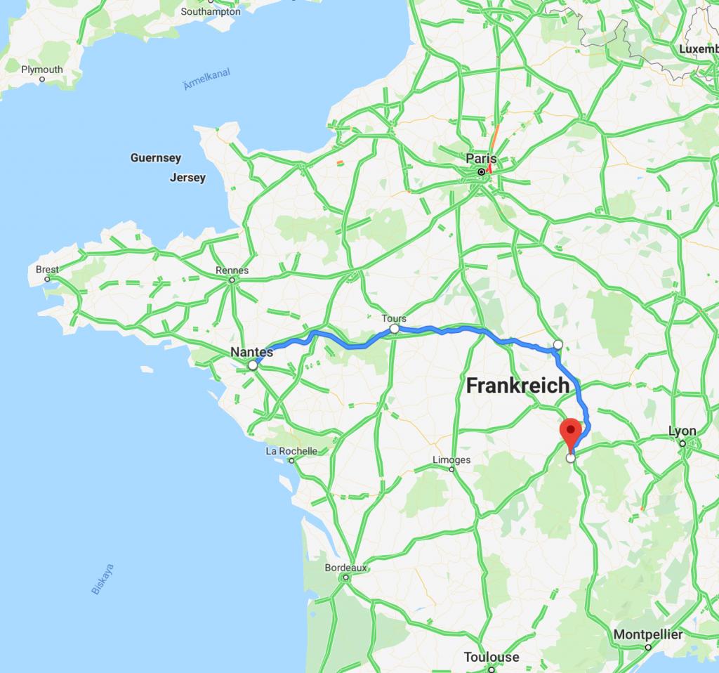 Bahnstrecke Nantes - Clermont-Ferrand