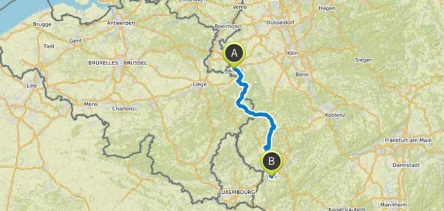 Aachen - Trier mit dem Fahrrad