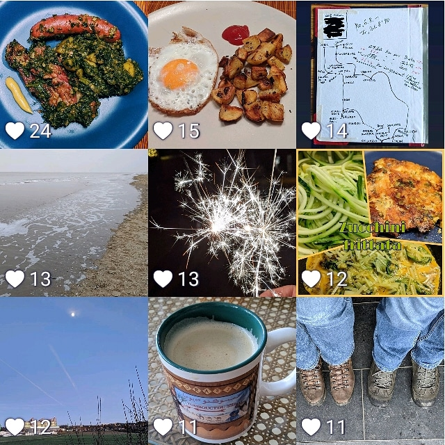 Meine besten neun Instagram-Fotos im Januar 2020.