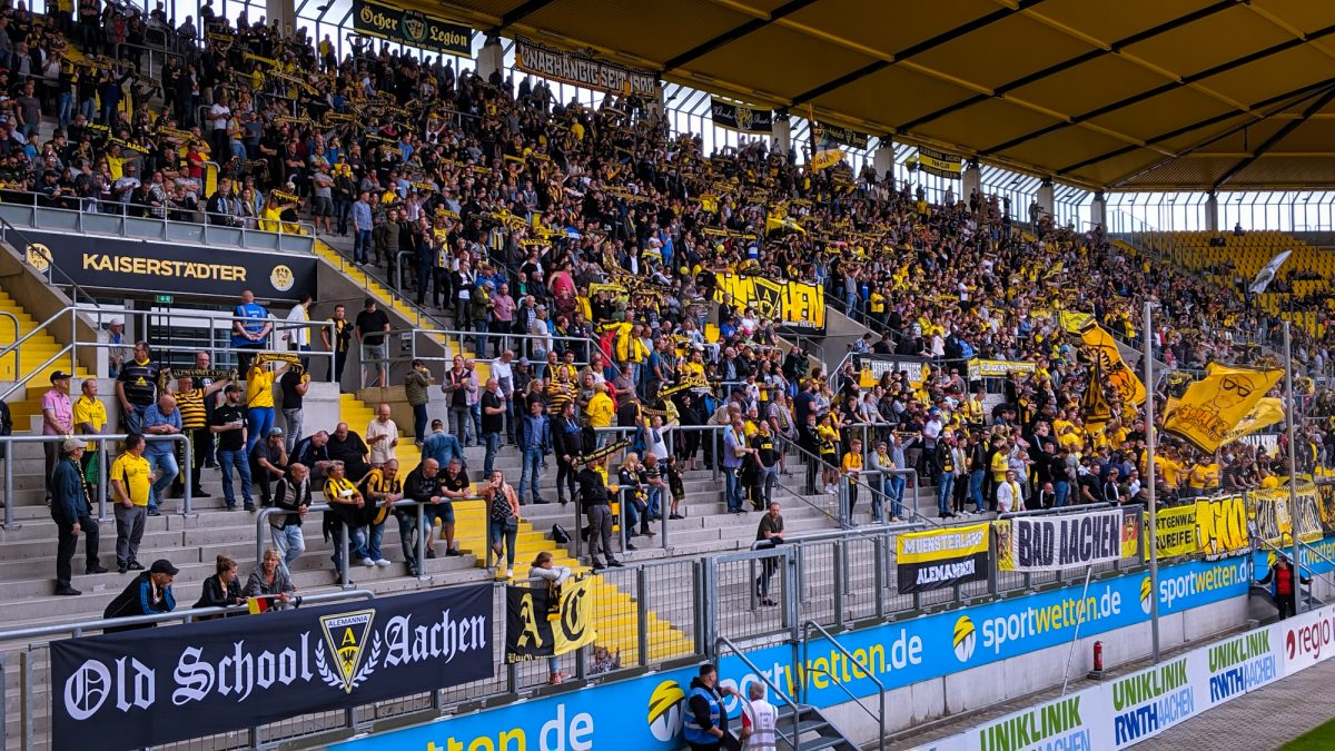 Auf dem Tivoli am 3. August 2019: Alemannia Aachen - Fortuna Düsseldorf U23 (1:1)