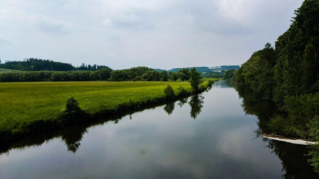 Die Ruhr kurz vor Wickede-Echthausen.