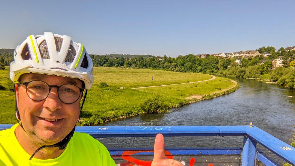 Letzte Ruhrüberquerung bei Hattingen.